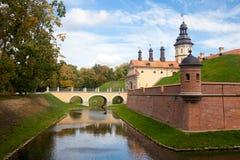 Nesvizh, Belarus, château médiéval Photos stock