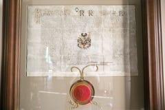 NESVIZH, BELARUS - 20 mai 2017 : Détails et éléments de l'intérieur d'un château médiéval dans Nesvizh Photographie stock libre de droits