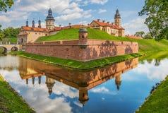 The amazing Nesvizh Castle, Belarus stock photography