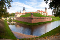 Nesvizh, Bielorrússia, castelo medieval Fotos de Stock Royalty Free