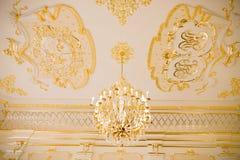NESVIZH, BIELORRÚSSIA - 20 de maio de 2017: Detalhes e elementos do interior de um castelo medieval em Nesvizh Foto de Stock Royalty Free