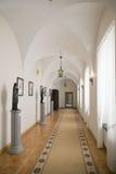 NESVIZH, BIELORRÚSSIA - 20 de maio de 2017: Detalhes e elementos do interior de um castelo medieval em Nesvizh Fotografia de Stock