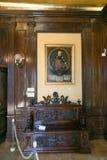 NESVIZH, BIELORRUSIA - 20 de mayo de 2017: Detalles y elementos del interior de un castillo medieval en Nesvizh Imagenes de archivo