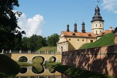 Nesvizh castle in Belarus. Royalty Free Stock Images