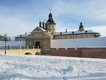 Nesvizh castle in Belarus Royalty Free Stock Photo