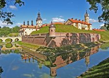 Nesvizh castle in Belarus Royalty Free Stock Images