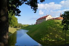 Nesvizh Castle, Belarus. Nesvizh Castle, Belarus - view over the ditch Stock Photo