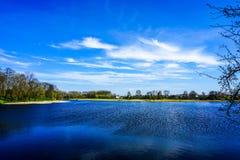 Nesvizh Castle Lake stock photo