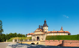 Nesvizh castle panorama. Stock Photos