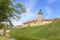 Nesvizh middeleeuws kasteel. Wit-Rusland royalty-vrije stock afbeelding
