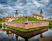 Nesvizh slott - medeltida slott i Vitryssland Arkivfoto