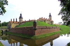 Nesvizhsky castle on the background of blue sky. In Belarus Stock Photo