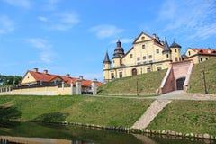 Nesvizhsky castle on the background of blue sky. In Belarus Stock Image