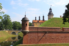 Nesvizhsky castle on the background of blue sky. In Belarus Royalty Free Stock Photo