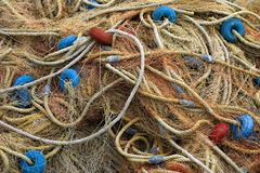 Net 05. Piled up fishing net royalty free stock photography