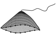 Net. Art illustation of a net in black and white Royalty Free Stock Photo