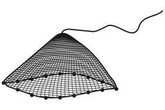 Net. Art illustation of a net in black and white vector illustration