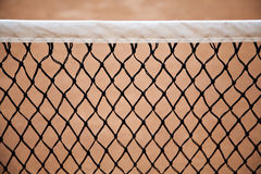 Net. A net in the tennis court Stock Photography