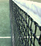 At the Net. Close up of a tennis net royalty free stock photography