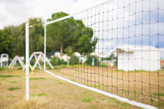 Net background for the game of volleyball.  stock images