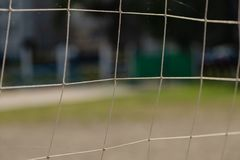 A Net background for the game of volleyball.  royalty free stock images