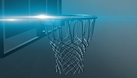 Net of a basketball hoop on various material and background, 3d render. Sports background, basketball hoop net Royalty Free Stock Photography