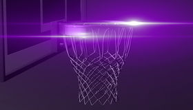 Net of a basketball hoop on various material and background, 3d render. Sports background, basketball hoop net Stock Photo