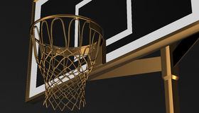Net of a basketball hoop on various material and background, 3d render. Sports background, basketball hoop net Royalty Free Stock Image