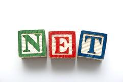 Net Blocks. Letter Blocks of World Wide Web (Internet Concept Royalty Free Stock Photos