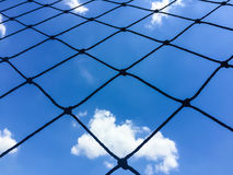 net and blue sky Stock Image
