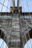 The Net - Brooklyn Bridge. Brooklyn Bridge cables forming a huge net Stock Image