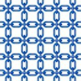Net of chain in blue design Royalty Free Stock Photography