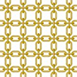 Net of chain in golden design Royalty Free Stock Photography