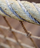Net close-up. A close-up view, with shallow depth of field, of a net Royalty Free Stock Images