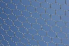 Net close up. Soccer ball Net close up on sunlight Stock Photo