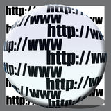 Net concept. Http://www writen on white ball and white background Royalty Free Stock Photo