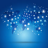Net Connections Blue Biz Background Stock Images