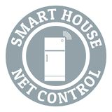 Net control logo, simple gray style Royalty Free Stock Image