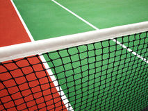 Net and court. Tennis net and the court line Royalty Free Stock Image