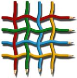 Net from crayon royalty free stock photography