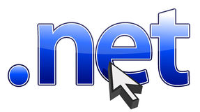 Net cursor clicking net domain illustration Royalty Free Stock Photo