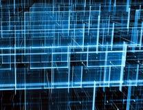 Net en perspectief - abstract digitaal geproduceerd beeld vector illustratie