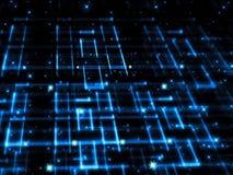 Net en sterren - abstract digitaal geproduceerd beeld Stock Afbeelding