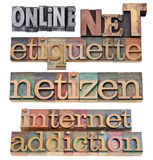Net etiquette - internet concept Stock Photo