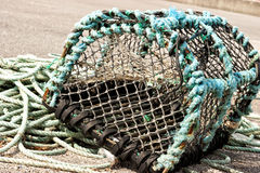 Net fish trap Royalty Free Stock Photos