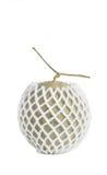 Net foam  wrap Melon on white background Stock Images