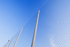 Net on a football field Royalty Free Stock Image