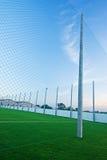 Net on a football field Stock Image