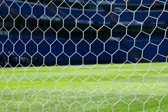 Net in the football gate. Of Real Madrid stadium Royalty Free Stock Images