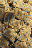 Net Full of Natural Sea Sponges Royalty Free Stock Image